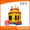 Inflatable Birthday Cake Lovely Jumping Moonwalk Bouncers (T1-211)