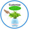 LED Night Light Bluetooth Speaker Smart Touch Music Flowerpot
