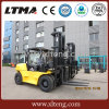 China Container Fork Lift Truck 7 Ton Diesel Forklift with Fork Positioner