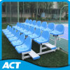 3-Row Aluminum Sports Bench / Outdoor Bench with Plastic Seat