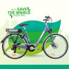 Grankee Green Electric Bicycle for Lady 700c 250W-500W