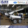 High Efficiency DTH Drilling with Air Compressor, Hf150t Trailer Drilling Rig for Water Well