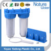 Double Stage Transparent Water Filter Housing Style