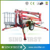10m 12m Aerial Trailing Towable Boom Lift for Sale
