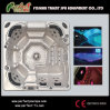 Powerful Outdoor Hot Tub Whirl Pool SPA With LED Jets (Eden)