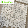 Small Hexagon White Marble Mosaic Tiles