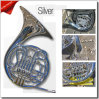 3-Key Small Size Bb Key/Dilver Plated French Horn