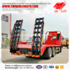 30 Tons Drop Deck Truck with 1000mm Hydraulic Ramp