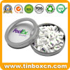 Round Metal Candy Tin Can with Transparent PVC Window Cover