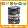 Oval Whisky Fudge Tin Box for Candy Confectionary Sweets Packaging