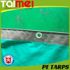 Silver/Green Anti-Dust, Rain, Sand Waterproof PE Tarpaulin