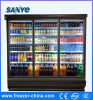 Factory Produce Commercial Supermarket Vertical Glass Door Display Freezer Machine
