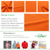 Polyester Two Side Brushed One Side Anti Pilling Fleece Fabric
