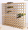 121 Bottles Solid Wooden Wine Rack Holder for Storage