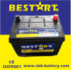 12V60ah Bci-24 Car Battery for USA Market