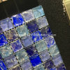 Blue Ice Cracked Marble and Glass Mosaic Tile (15*15)
