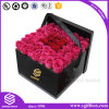 Cardboard Paper Packaging Rectangle Flower Box with Heart Shape Window