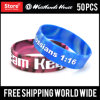 3/4 Inch Check Custom Design Silicone Wristbands