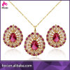 2016 Factory Wholesale Luxury Good Quality Brass 18k Gold Fashion Jewelry Sets