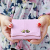 Vintage Middle Split Double Birds Fashion Women Wallet