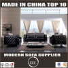 Luxury Living Room Black Color Sofa Set (LZ-077B)