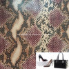 Python Belly Grain Synthetic PU Leather for Bags Totes Wallets Hx-B1713