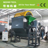Double shaft shredder machine with trommel