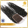 """4"""" X 4"""" Virgin Brazilian Hair Hand Tied Remy Lace Closure (Y1)"""