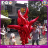 Hot Item Decor Inflatable Red Golden Fire Parade Performance Costume for Event Stage Performance