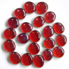 Red Glass Crafts Stone Round