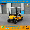 Mini 2 Seater Yellow Electric Golf Buggy Withe Ce Certificate
