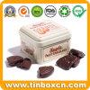 140g Square Fruit Chocolates Tin for Metal Food Storage Box