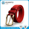 Customized Ladies Red Fabric Woven Pants Belt
