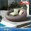 Round Wicker Rattan Outdoor Daybed with Pillow and Cushion