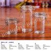 Round and Slender Clip Cap Storage Glass Jar