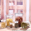 Food Grade 200ml-2000ml Clear Glass Tea Jar for Storage with Glass Lid