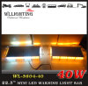 Mini 40W Amber LED Light Bars for Trucks