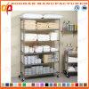 Six Layers Chrome House Storage Wire Shelf with Castors (Zhw2)