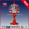 All Red Festival Table Lamp with Lace Decoration and LED Lights