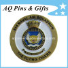 Military Coin with Enamel in Antique Bronze, Navy Challenge Coin