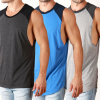 Raglan Tank Top, Cut off Sleeves Singlet (A839)