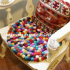 Car Handmade Round Wool Felt Washable Ball Mats for Decorations