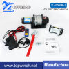 DC 12V/24V Electric Winch Power Winch with Roller Fairlead (4000lb-2)