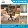 Clear PVC Coil Chair Mat Carpet / PVC Office Chair Mat