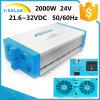 Shi-2000W-24V/48V-220V 21.6~32VDC +RS-485/RS-232 Solar off Grid Inverter