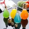 Glass Bottle with Bulb Shape. Beverage Bottle