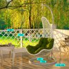 Modern Leisure Dia5.0 Round Rattan Patio Home Hotel Office Hanging Chair (J810)