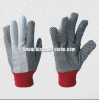 8+10oz PVC Dotted Drill Cotton Working Glove-2205