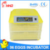Hhd Hot Selling Automatic Chicken Egg Incubator Yz-96