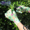 Nmsafety Printed Liner Palm Coated Nitrile Ladies Garden Work Glove